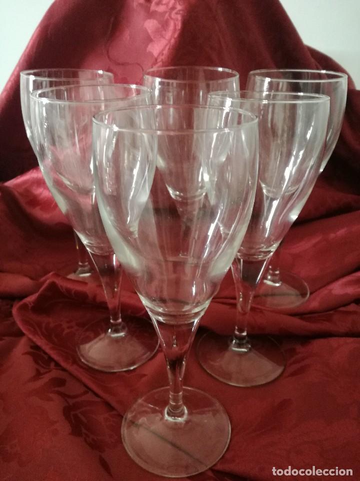 JUEGO DE 6 COPAS GRANDES (Vintage - Decoración - Cristal y Vidrio)
