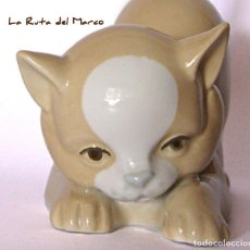 Vintage: MIQUEL REQUENA. GATO. FIGURA DE PORCELANA.. Lote 130350362