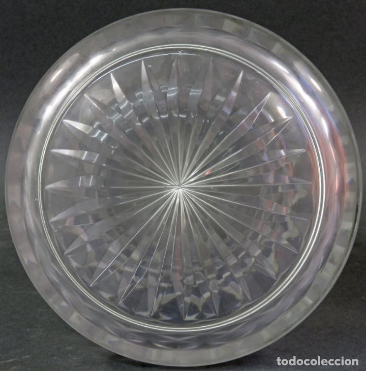 Vintage: Jarra de cristal tallado con boca en plata punzonada años 50 - Foto 7 - 131415554