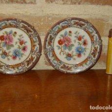 Vintage: PLATOS PEQUEÑOS DE PORCELANA PARA COLGAR.. Lote 131640562