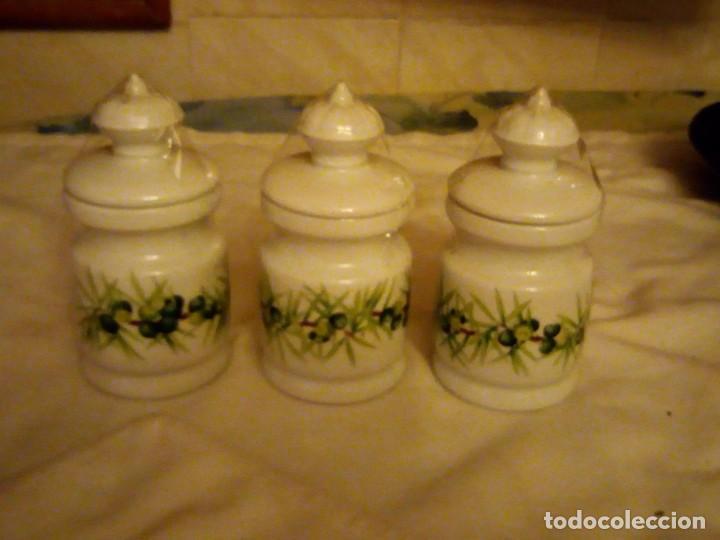 Vintage: Lote de 3 tarros con tapa de porcelana, decors de paris manufacture d'articles cadeaux porcelaine - Foto 2 - 131767630