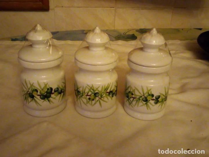 Vintage: Lote de 3 tarros con tapa de porcelana, decors de paris manufacture d'articles cadeaux porcelaine - Foto 3 - 131767630