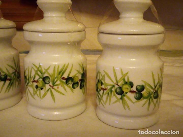 Vintage: Lote de 3 tarros con tapa de porcelana, decors de paris manufacture d'articles cadeaux porcelaine - Foto 5 - 131767630