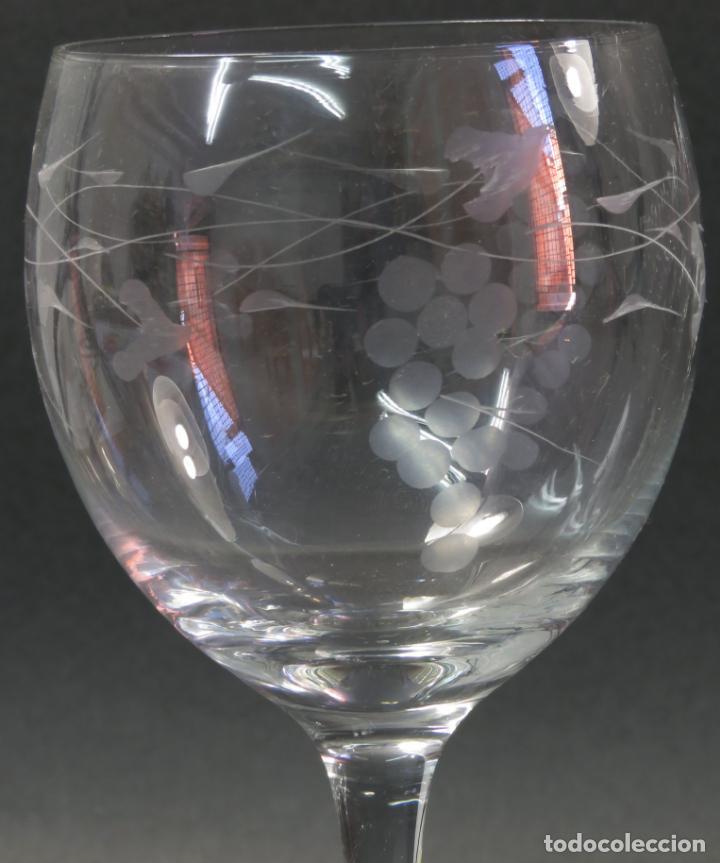Vintage: Juego de seis copas en cristal grabado segunda mitad siglo XX - Foto 2 - 131890810