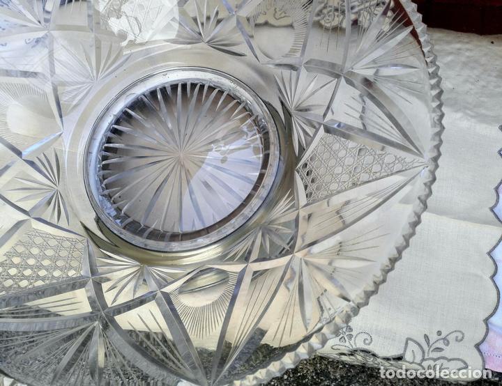 CENTRO DE MESA CRISTAL (Vintage - Decoración - Cristal y Vidrio)
