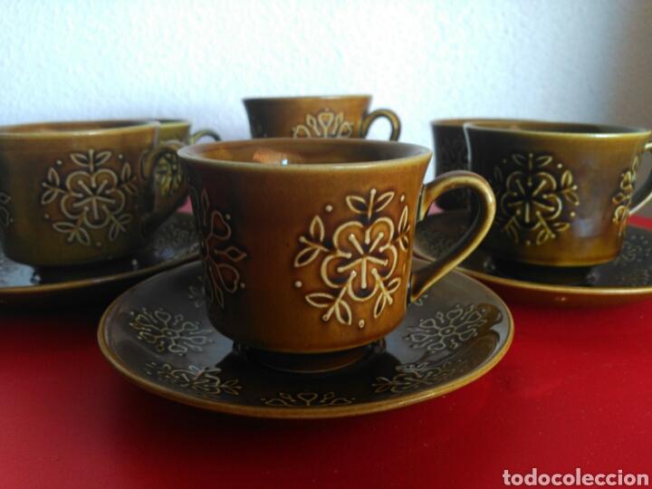 Vintage: juego 6 tazas y platos de Nescafé marca pontesa modelo escocia - Foto 3 - 132146015