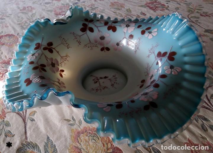 Vintage: Magnifico centro de mesa OPALINA BRONCE s.XIX - Foto 2 - 132836590