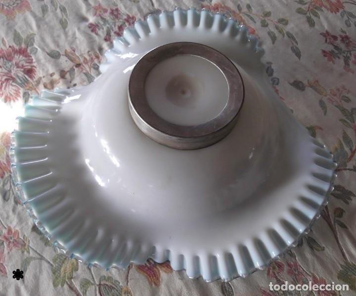 Vintage: Magnifico centro de mesa OPALINA BRONCE s.XIX - Foto 3 - 132836590