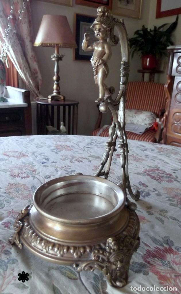Vintage: Magnifico centro de mesa OPALINA BRONCE s.XIX - Foto 5 - 132836590