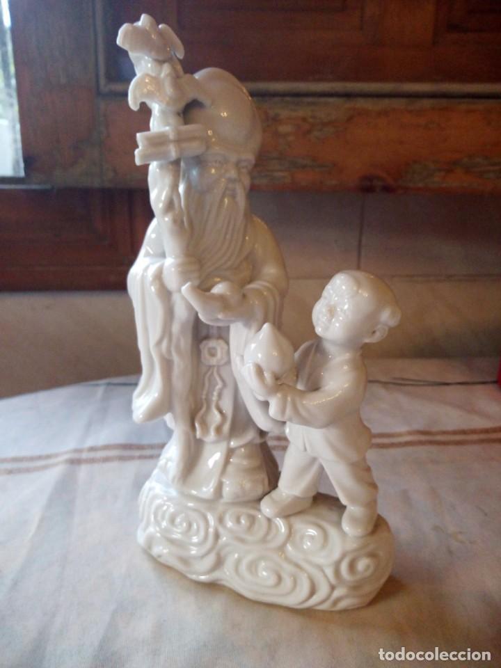 Vintage: Preciosa figura oriental de porcelana biscuit. - Foto 2 - 133250674