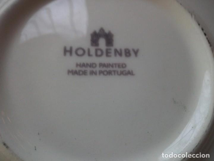 Vintage: Gran plato de cerámica holdenby made in portugal,pintado a mano - Foto 3 - 133251594