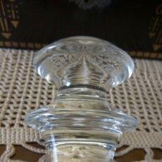 Vintage: TAPON CRISTAL TALLADO MACIZO. Lote 133450503