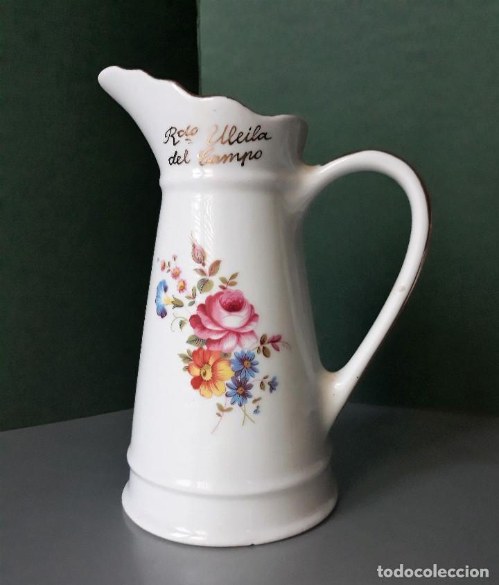 Vintage: AGUAMANIL PALANGANA Y JARRA PORCELANA RECUERDO DE ULEILA DEL CAMPO ALMERIA - Foto 4 - 133452354