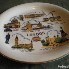 Vintage: PLATO LONDRES PORCELANA FINA FIRMADA POR EL AUTOR EN PERFECTO ESTADO. Lote 134432294