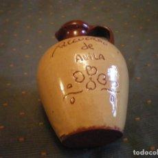 Vintage: JARRA EN CERAMICA DE AVILA EN PERFECTO ESTADO COLOR MARRON. Lote 134437946