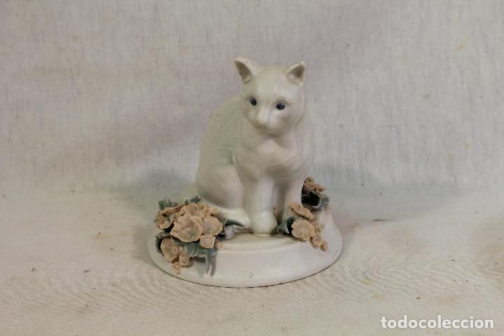 Vintage: gato en porcelana con sello en base - Foto 2 - 134735058