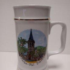 Vintage: JARRA DE PORCELANA RECUERDO VIELHA-VAL D'ARAN. Lote 134882766