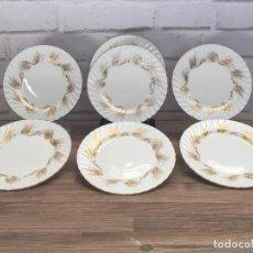 Vintage: 6+1 DE PLATOS CAKES WHEAT BY AYNSLEY INGLATERRA AÑOS 60. Lote 135076339