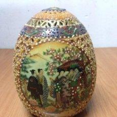 Vintage: HUEVO PORCELANA CHINA PINTADO. Lote 135368842