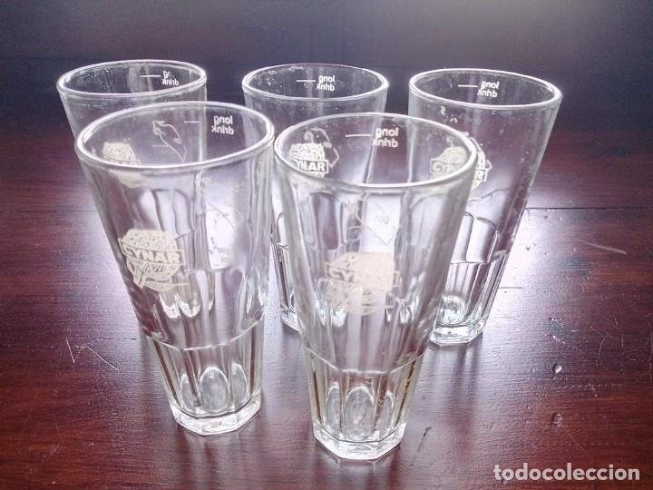 Vintage: 5 vasos Cynar, licor de alcachofa, años 70. - Foto 2 - 135410714