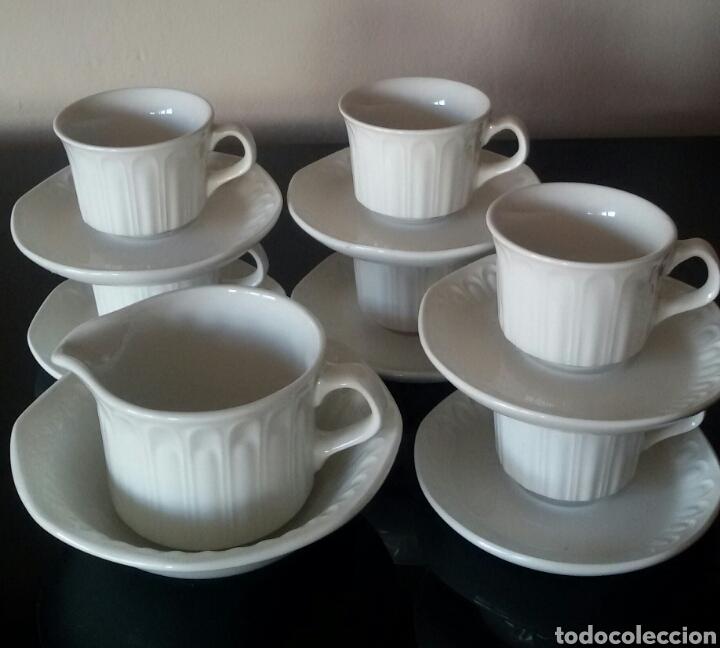 JUEGO DE CAFÉ DE PORCELANA PONTESA. 14 PIEZAS. EXCELENTE ESTADO. (Vintage - Decoración - Porcelanas y Cerámicas)