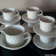 Vintage: JUEGO DE CAFÉ DE PORCELANA PONTESA. 14 PIEZAS. EXCELENTE ESTADO.. Lote 135900603