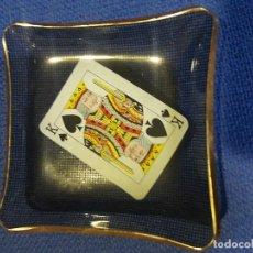 Vintage: LOTE 4 CENICEROS O TARJETEROS POKER DE REYES. Lote 136015462