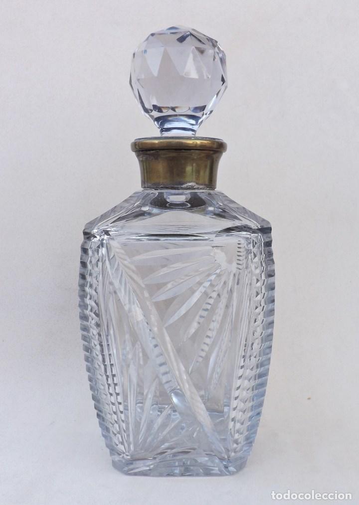 LICORERA DE CRISTAL TALLADO (Vintage - Decoración - Cristal y Vidrio)