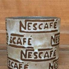 Vintage: BOTE PUBLICIDAD NESCAFE CAFE CERAMICA VIDRIADA FIRMA JA VER FOTOS 9X9,5CMS. Lote 136204514