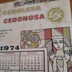 Vintage: CALENDARIO VINTAGE EN AZULEJO AÑO 1974. Lote 136466036