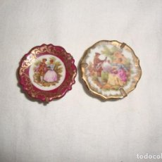 Vintage: 2 VINTAGE PLATOS MINIATURAS. Lote 136560890
