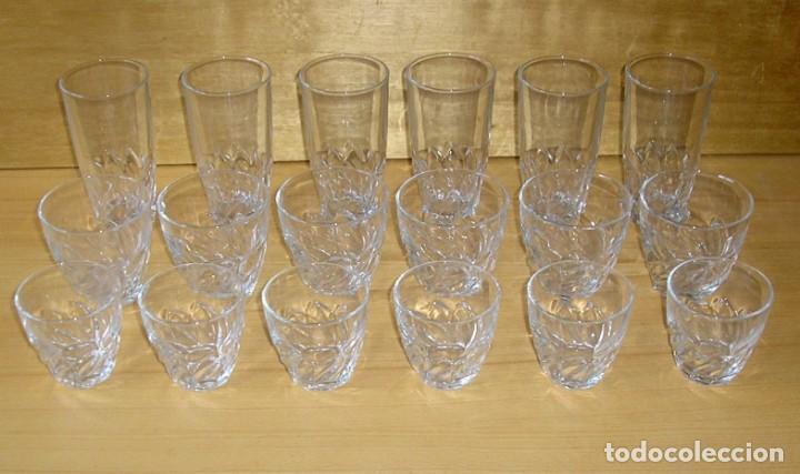 Vintage: Juego de 18 vasos luminarc - 3 tamaños. - Foto 2 - 137239314