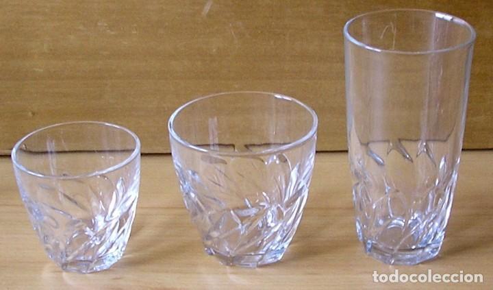 Vintage: Juego de 18 vasos luminarc - 3 tamaños. - Foto 3 - 137239314