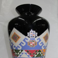 Vintage: FLORERO CRISTAL DECORADO. Lote 137337422