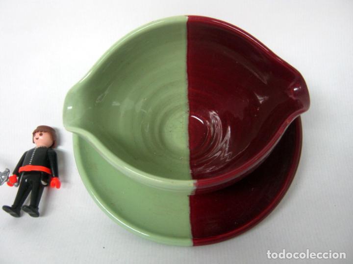 Vintage: 3.3 kg - Grande set retro vintage Francia ceramica - Vallauris Cerenne 50s mid century celadon - Foto 4 - 137348802