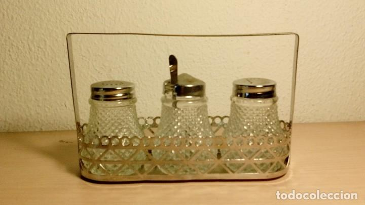 Vintage: Juego sal y pimienta,vidrio - Foto 4 - 137642642
