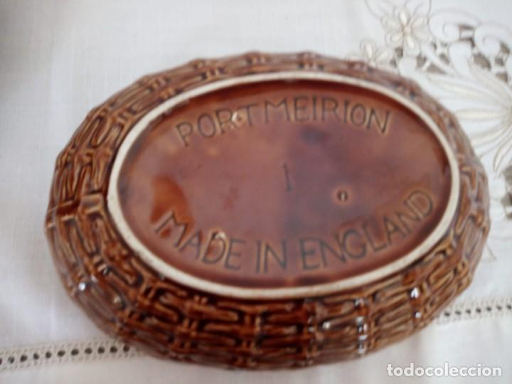 Vintage: Antigua gallina en el cesto ,ceramica . port meiron 1 made in england.. - Foto 5 - 137903362