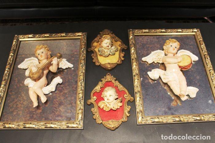 LOTE DE ÁNGELES DE PARED VINTAGE. AÑOS 60/70 (Vintage - Decoración - Porcelanas y Cerámicas)