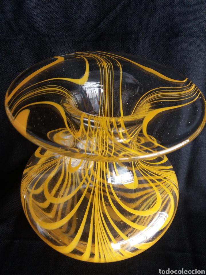 Vintage: Gran jarron florero cristal Murano original vintage años 70 - Foto 2 - 138672549