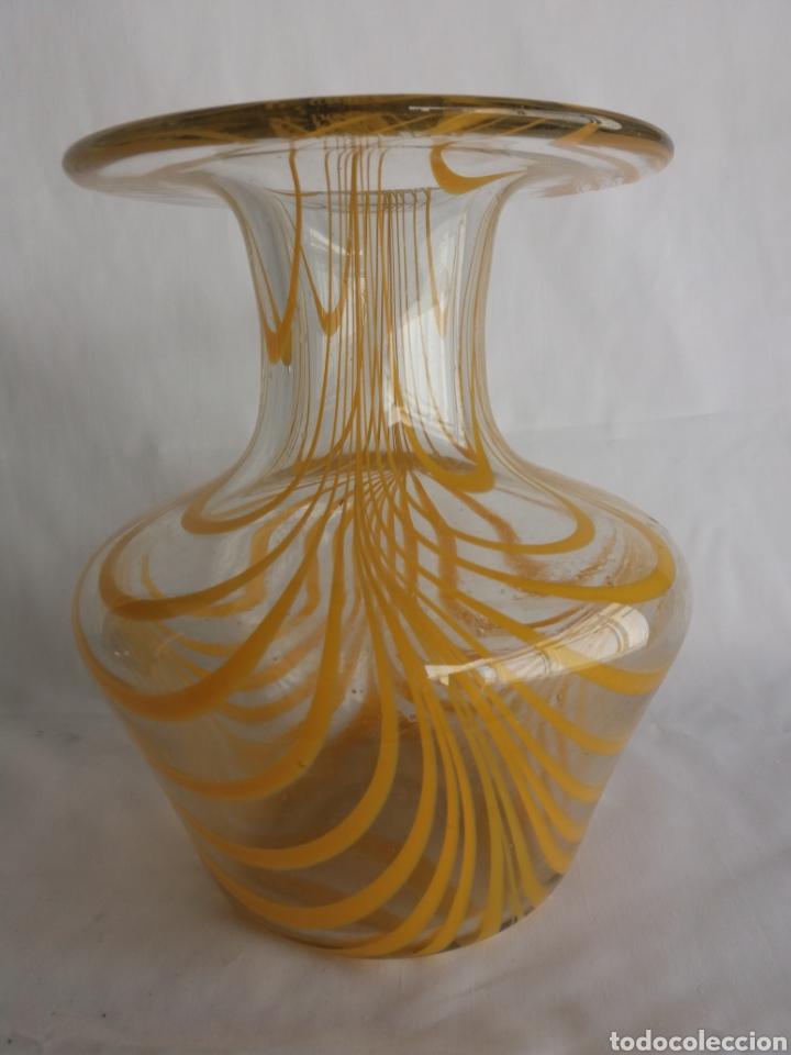Vintage: Gran jarron florero cristal Murano original vintage años 70 - Foto 5 - 138672549