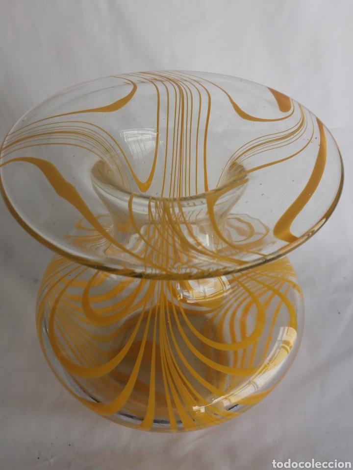 Vintage: Gran jarron florero cristal Murano original vintage años 70 - Foto 6 - 138672549