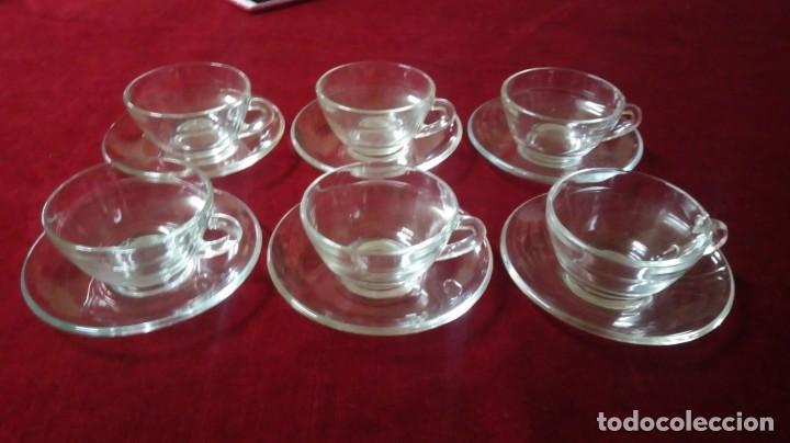 JUEGO DE CAFÉ 6 SERVICIOS DURALEX MADE IN SPAIN (Vintage - Decoración - Cristal y Vidrio)