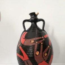 Vintage: ORIGINAL JARRÓN DE BARRO - LOS TRAPECISTAS - FIRMADO Y FECHADO 1990. Lote 139034654
