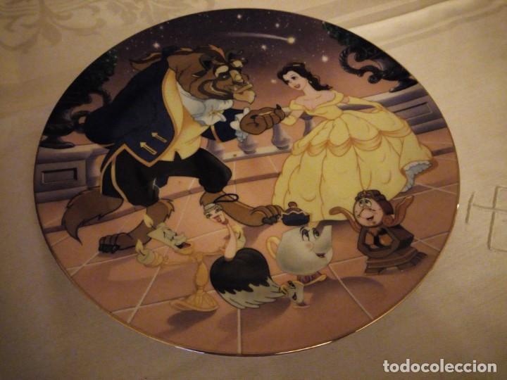Vintage: La bella y la bestia plato de porcelana 1991 de colección. disney - Foto 2 - 174952142