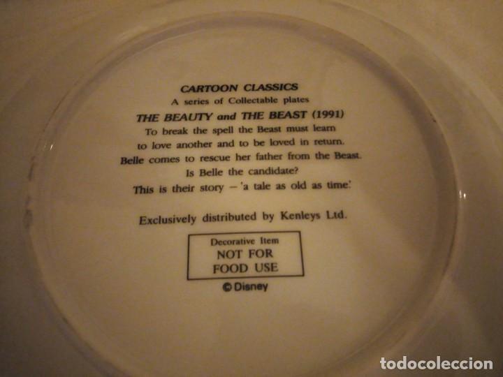 Vintage: La bella y la bestia plato de porcelana 1991 de colección. disney - Foto 3 - 174952142