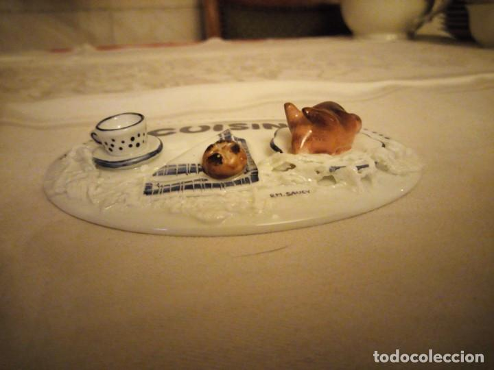 Vintage: Precioso adorno de porcelana para la cocina,relieve sellado y firmado por rm. saucy.germany - Foto 3 - 139482098