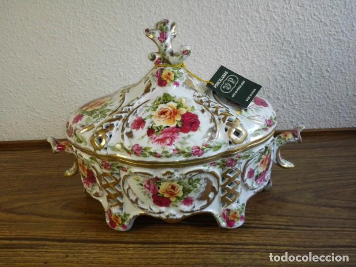 CENTRO DE MESA PORCELANA (Vintage - Decoración - Porcelanas y Cerámicas)