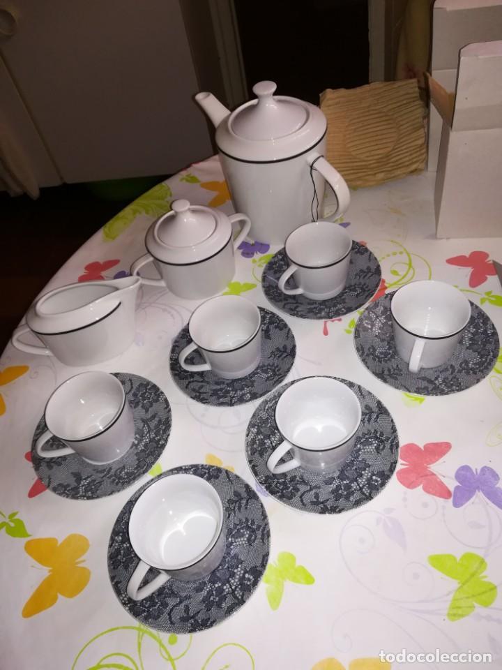 JUEGO DE CAFÉ DE VITTORIO Y LUCHINO (Vintage - Decoración - Porcelanas y Cerámicas)