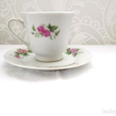 Vintage: TAZA Y PLATO MADE IN CHINA. Lote 140166838