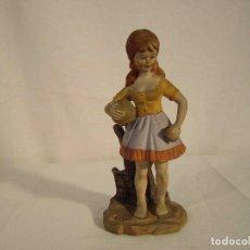 Vintage: FIGURA PORCELANA NIÑA CANTARO. Lote 140770822